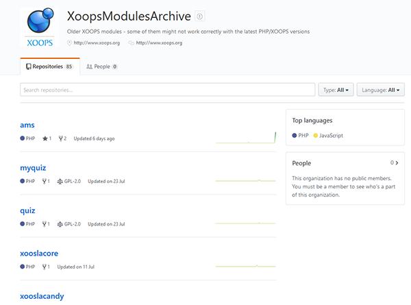 GitHub XOOPS Arhiv 1