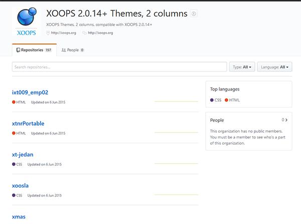 GitHub XOOPS Arhiv 2