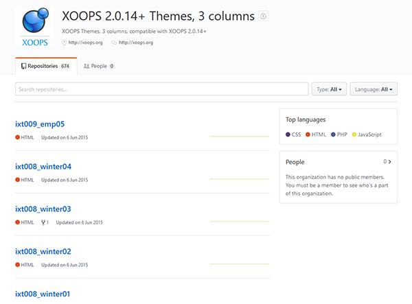 GitHub XOOPS Arhiv 3