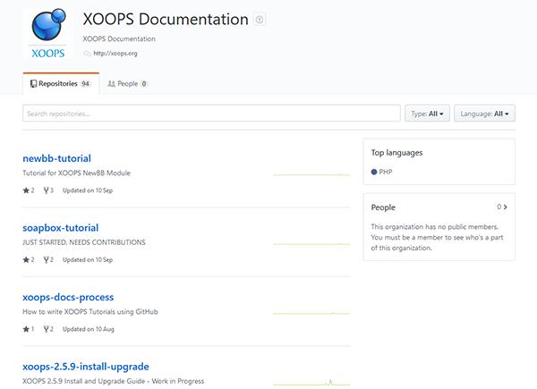 GitHub XOOPS Documentation
