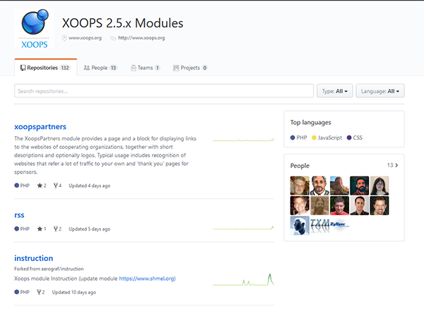 GitHub XOOPS Modules 2.5.x