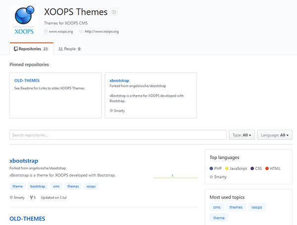 GitHub XOOPS Themes