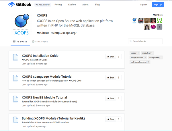 GitHub XOOPS Training
